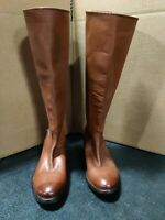 FRYE Women's Melissa Button Back-Zip Leather Knee High Boots Size 6 Retails $388