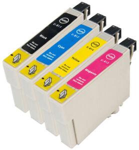 Compatible T0615 CMYK Set Ink Cartridges C13T06154010 for Epson Stylus DX4800