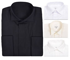 Mens Shirts Regular Fit Easy Care Formal Collar Casual Long Sleeves Plain Cotton