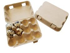 Quail Egg Boxes x20, environmentally friendly, cardboard pulp carton for 12 eggs