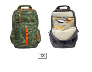 "STM 13"" School Laptop Backpack Rucksack Fishing Sports Travel Unisex Green Camo"