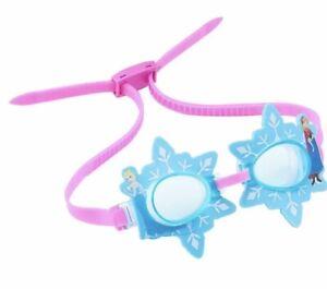 NEW girl DISNEY age 3+ FROZEN blue GOGGLES elsa SNOWFLAKE anna SWIMWAYS