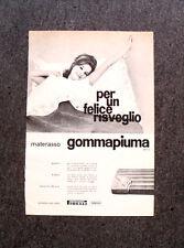 M308- Advertising Pubblicità -1960- MATERASSO GOMMAPIUMA , PIRELLI