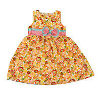 New Girls Summer Floral Party Dress in Yellow Red from 4 5 6 7 8 Years