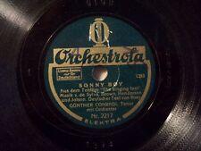 "Günther Conradi, Tenor "" If The Bells Quiet Resound "" ORCHESTROLA 20cm 78 RPM"