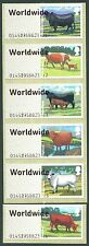 WINCOR CATTLE SET/6 WORLDWIDE NO UP to 10g TEXT & LARGE FONT ERRORS POST & GO