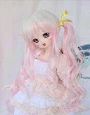 1 3 BJD 8-9 Dal Pullip SD DZ DOD LUTS Dollfie Doll wigs long pink MIX white wig