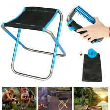 Portable Folding Chair Foldable Aluminum Stool Outdoor Fishing Camping Picnic