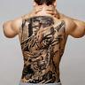 XXL Rücken Temporäres Tattoo Samurai Tiger ct Kunst Tatoo Körperkunst Aufkleber