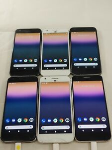 Lot of 6 Google Pixel 1 G-2PW4100 32GB AT&T GSM Unlocked Smartphone A059L