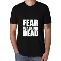 Fear The Walking Dead Funny Cotton Men's T-shirt Short Sleeve Tee Black Tops