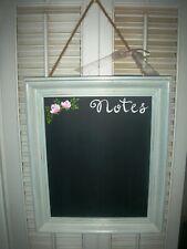 "Chalkboard Decor 12X14.5X1.25""ej pink roses shabby chic farmhouse hand paint ck4"