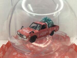 M2 Coca-Cola 1976-79 Datsun Pickup Truck *Christmas Decoration *1:64 *