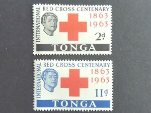 97]  TONGA - STAMPS - 1963 RED CROSS -  M/N/H