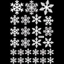 Xmas Showcase Sticker White/Red Snowflake Vinyl Decal Sticker Glass Window Decor