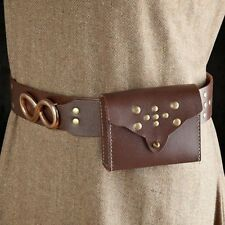 Brown Leather Belt with Purse / Bag, Ideal for Stage, Costume and Re-enactment