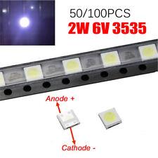 5X LED RETROILLUMINAZIONE TV 2W 6V 3535 ALTA QUALITA/'