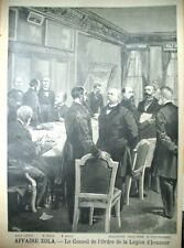 AFFAIRE DREYFUS  ZOLA CONSEIL ORDRE DE LA LEGION D'HONNEUR LE PETIT JOURNAL 1898