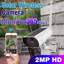 Sans fil solaire Outdoor Wifi Caméra IP 1080P HD Sécurité Surveillance Audio