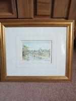 K W Burton Artist Signed Limited Edition Watercolour Print Aylesford Kent Framed