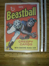 Vintage exceptional Beast Baseball Player ensemble cards by Topps - Sign/Poster