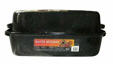 NEW Steel Covered Holiday Roasting Roaster Pan w Lid - Holds up to 30 lb Turkeys