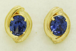 AAA TANZANITE 6.76 Cts EARRINGS 14k Yellow Gold ** NEW WITH TAG ** MADE IN USA