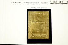 Jemen Yemen Kingdom 1970 Fußball WM Gold Ungezähnt Folder Soccer Imperf MNH