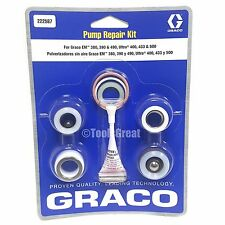 Graco GM EM 380, 390, 490, Ultra 400, 433 & 500 Pump Packing Repair Kit 222587