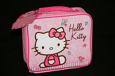 HELLO KITTY Pink Lunch Bag NEW Padded Insulated Lunchbox Sanrio Licensed