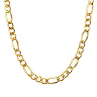 """24"""" Stainless Steel Men's 18K Gold Filled Figaro Chain Necklace Link Jewelry 6mm"""