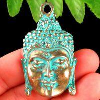 2pcs 48x29x3mm Carved Brass Bronze Buddha Pendant Bead YD2019625