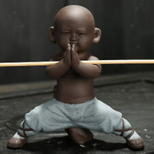 Little Buddha Statue Kungfu Monk Tea Pet for Yoga Room Decoration