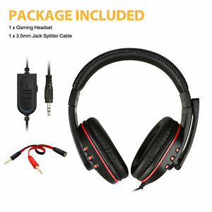 Wired Gaming Headset with Mic Headphone for PS4 PS5 XBOX DELL HP Asus PC Laptop