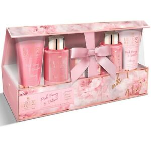 Grace Cole Gift Set 5 Pce GC Pink Peony & Vetiver Delicate Bloom Luxury Bathing