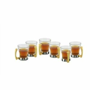 Artistique Stainless Steel Set of 6 Tea Cups