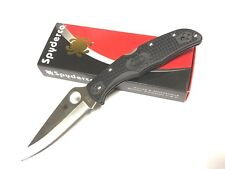 "Spyderco Endura FRN Plain Black Knife 3.75"" VG-10 Blade C10PBK New"
