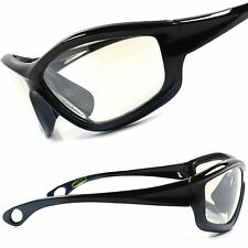 Biker Motorcycle Riding Light Tint Cool Mens Black Gray Wrap Sport Sun Glasses