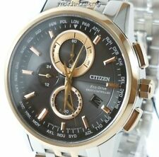CITIZEN ECO-DRIVE RADIO CONTROLLED WORLD TIME CHRONOGRAPH 100m WATCH AT8116-65E