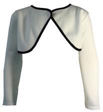T-shirts et débardeurs blanc col rond manches longues pour fille de 2 à 16 ans