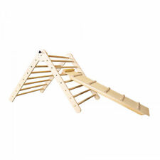Wooden Foldable Pikler Triangle with Climbing Ladder - Foldable Climber Model #3