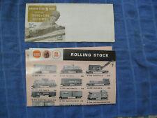 1960-61 Gilbert American Flyer S Gauge Trains Folders Very Good From Estate Lot
