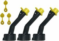 3 Pack MYC Cap Gas Can Spout Replacement for Blitz Old Style Nozzles W/Caps
