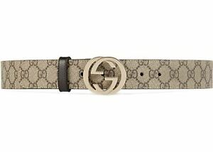 GUCCI GG Supreme KGD1R belt with G buckle 100/40