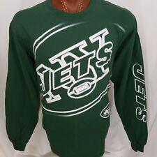 Reebok New York Jets NFL Green Long Sleeve Graphic T Shirt 100% Cotton XL