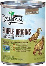 (12) Purina Beyond Grain Free Natural Pate Wet Dog Food; Simple Origins Farm R..