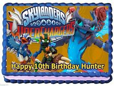 SKYLANDERS SUPERCHARGERS EDIBLE CAKE TOPPER BIRTHDAY DECORATIONS