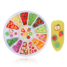 200x 3d Polymer Tiny Fimo Fruit Slices Wheel Nail Art DIY Decoration 12 Patterns