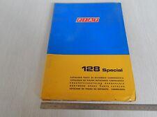 CATALOGO PARTI DI RICAMBIO ORIGINALE CARROZZERIA FIAT 128 SPECIAL 1974 1 EDIZ.