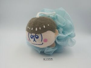 "Osomatsu San Karamatsu B1008 Sponge Bath Bandai 6"" Plush Toy Doll Japan"